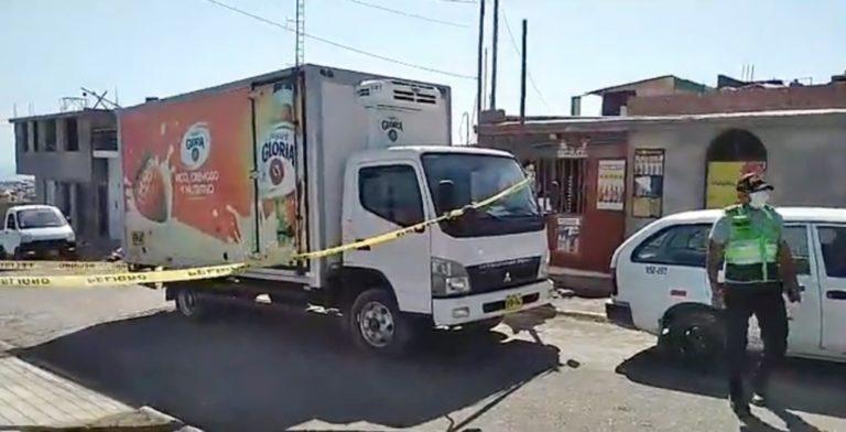 Asaltan a mano armada camión de productos lácteos