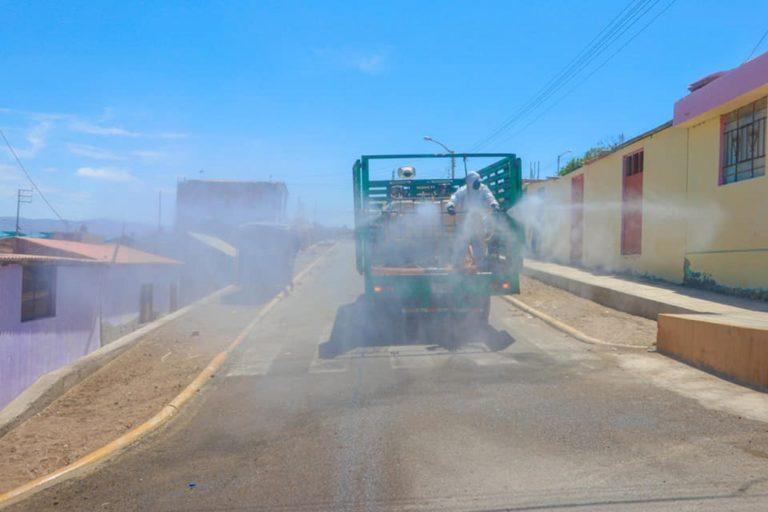 Municipios actúan en conjunto para desinfección en Punta de Bombón