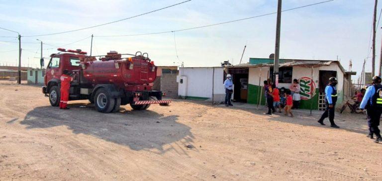 Amago de incendio se registra en vivienda de Nuevo Algarrobal