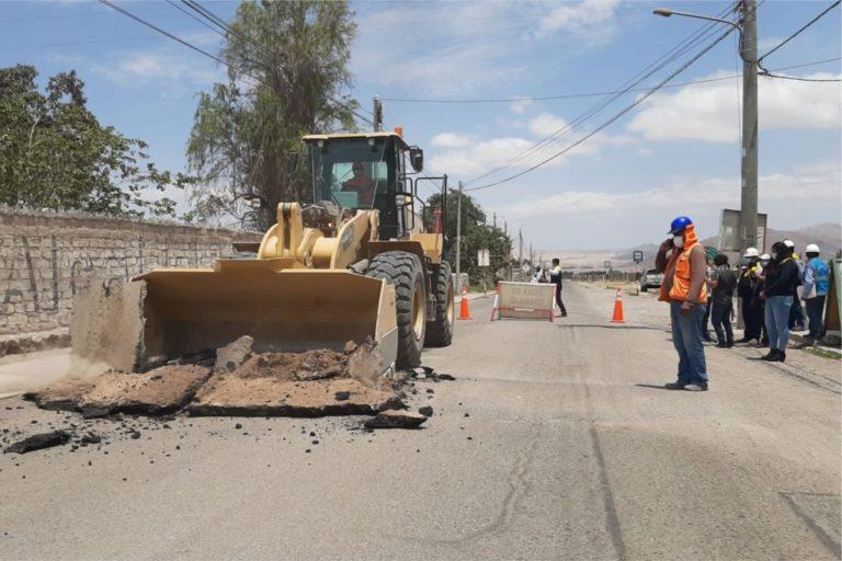 Inician obra del mejoramiento vial del proyecto carretera Los Ángeles – Yacango