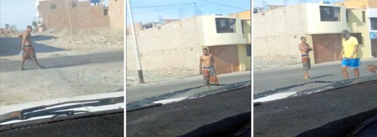 Nuevamente extranjero causa temor en las calles de Ilo