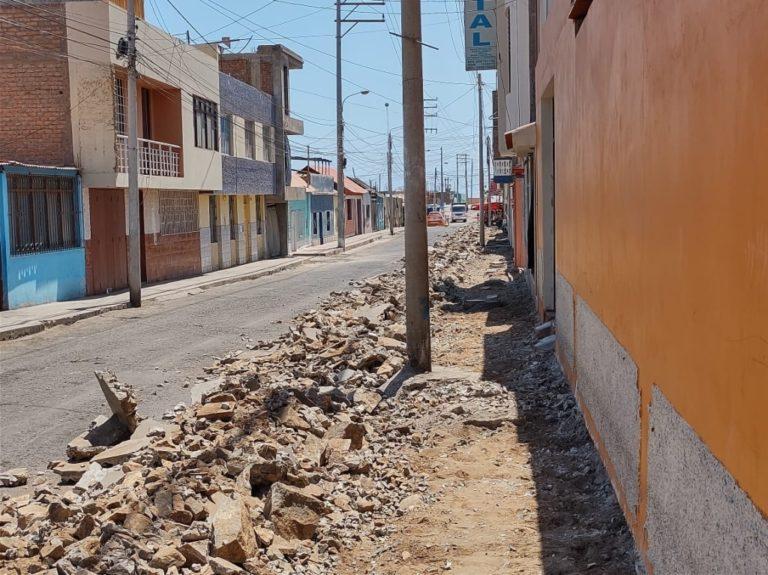 Obras de la calle Puno: Vecinos piden colocar adoquines en lugar de asfalto por problemas en tuberías de desagüe