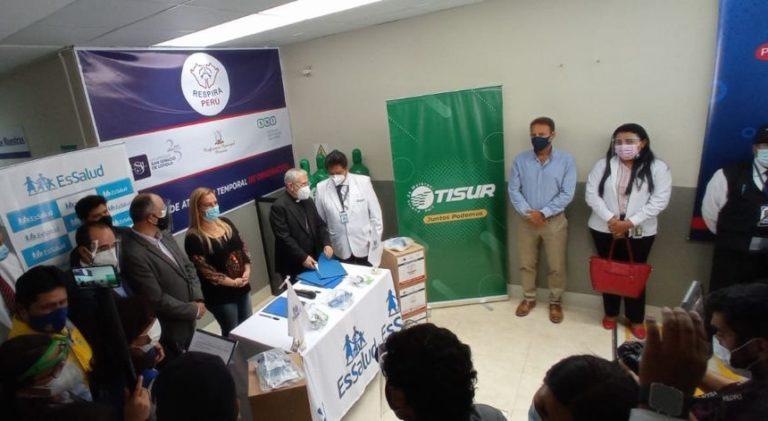 Tisur participa de entrega de respiradores artificiales a EsSalud