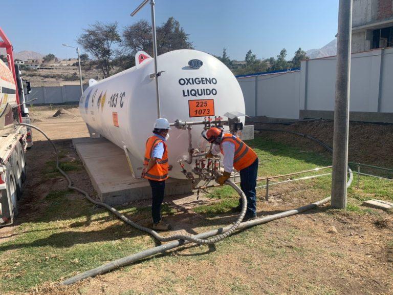 Empresa Southern Peru abastece de oxígeno a Hospital Regional de Moquegua