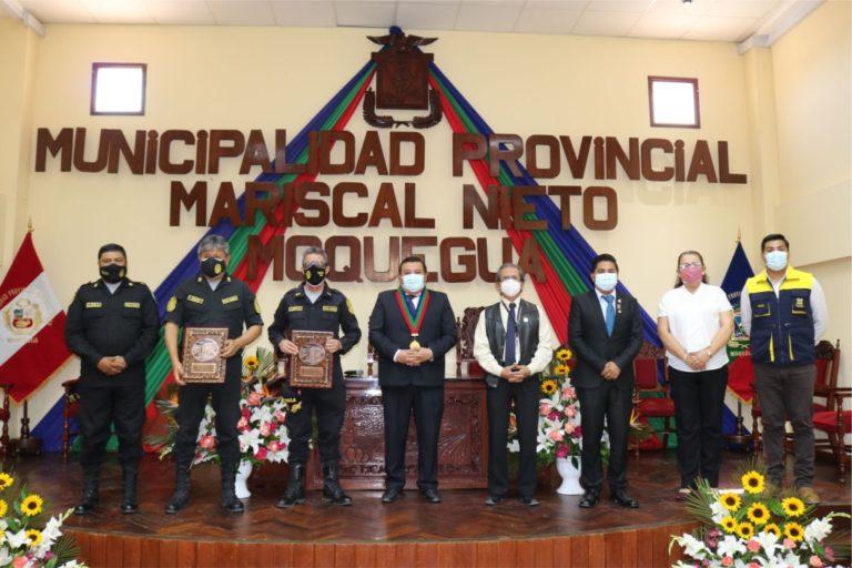 Alcalde mediante reconocimiento destacó el trabajo articulado con la Policía Nacional