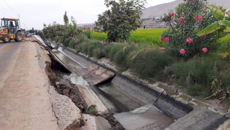 Preocupa colapso de canales en diversos sectores del valle de Tambo