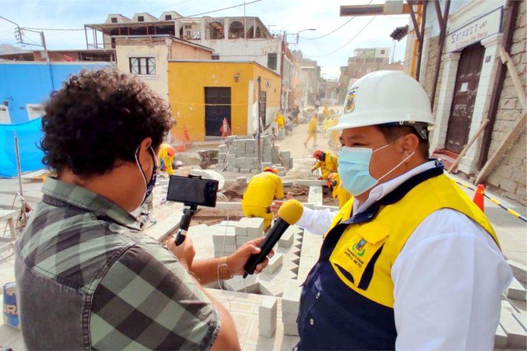 Diversas obras en Moquegua como la recuperación de la zona monumental generan más de 3 mil puestos de trabajo