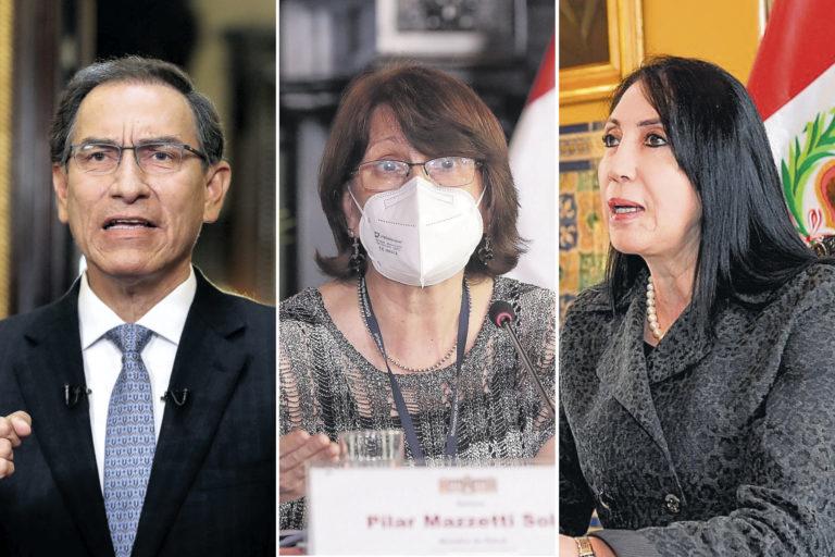 Comisión Permanente aprobó informe que recomienda inhabilitar a Martín Vizcarra, Pilar Mazzetti y Elizabeth Astete