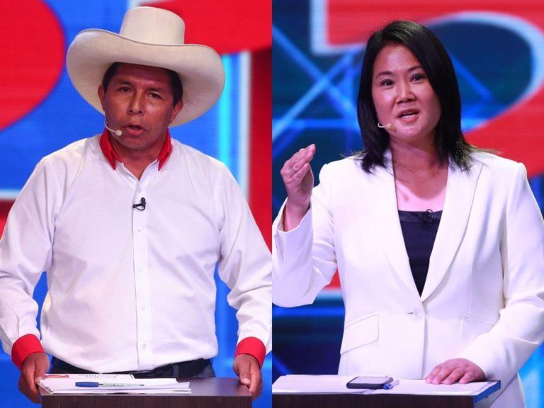 Pedro Castillo tiene 44 % y Keiko Fujimori 41 % en primer simulacro nacional de Datum