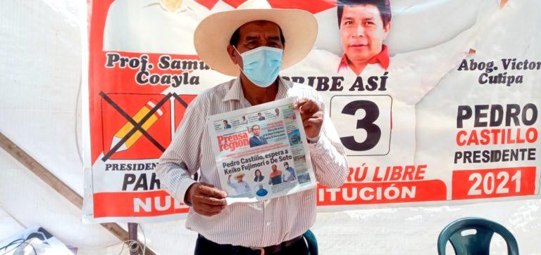 Resultados ONPE: Samuel Coayla Juárez de Perú Libre, es virtual congresista por Moquegua