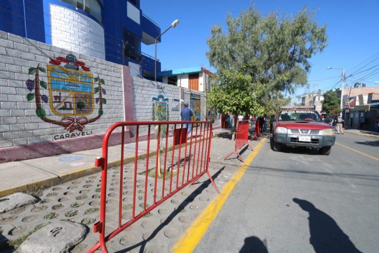 Disponen policías para ordenar alrededores de la Gerencia Regional de Transportes