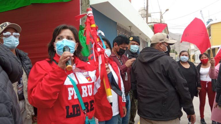 Candidata a vicepresidenta por Perú Libre arribó al valle de Tambo