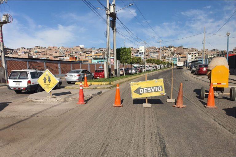 Disponen cierre parcial de tránsito en la Av. Interconexión Vial