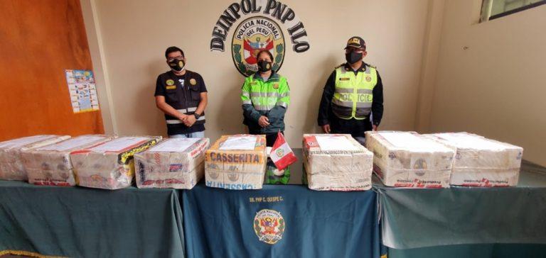 PNP señala que serían 215 kilos de droga encontrada en camión al ingreso de Ilo