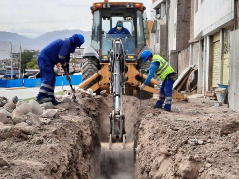 Moquegua: Realizan trabajos de renovación de redes de agua potable y alcantarillado en el cercado