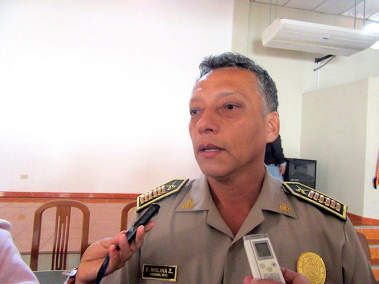 Coronel Edwin Molina, nuevo jefe de la región policial Moquegua