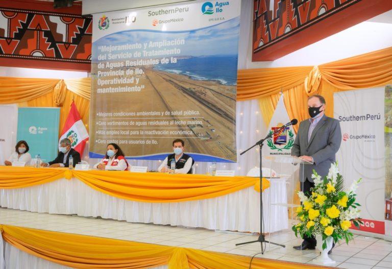 Southern Perú financiará la construcción de la PTAR Ilo y estará a cargo de su operación y mantenimiento por 30 años