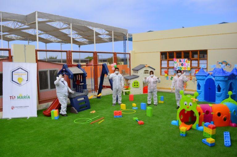 Mejoran áreas recreativas en colegios de Punta de Bombón