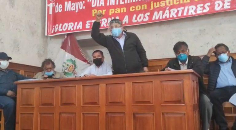 Conforman frente de izquierda en respaldo a Pedro Castillo en Arequipa