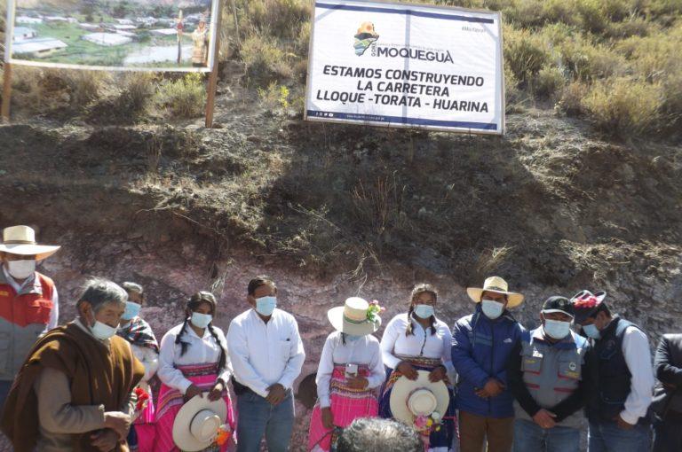GORE Moquegua inicio construcción de carretera Lloque-Torata-Huarina
