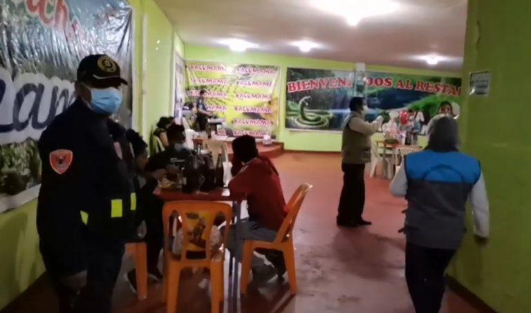 """Intervienen restaurante """"Yacumama"""" al incumplir con medidas sanitarias"""