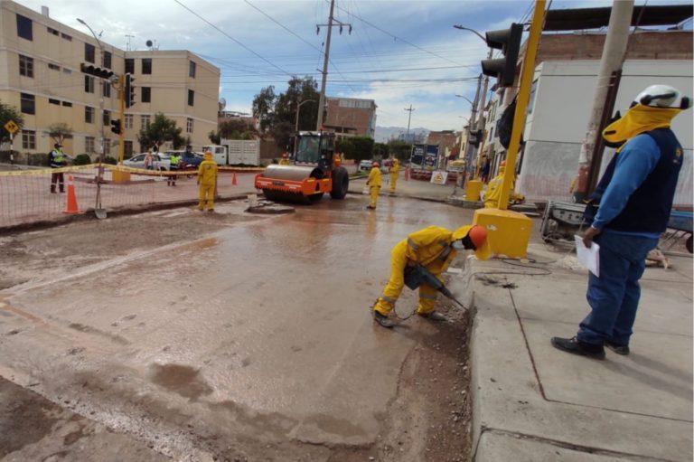 Colocación de asfalto en caliente alcanzó el 45% de avance