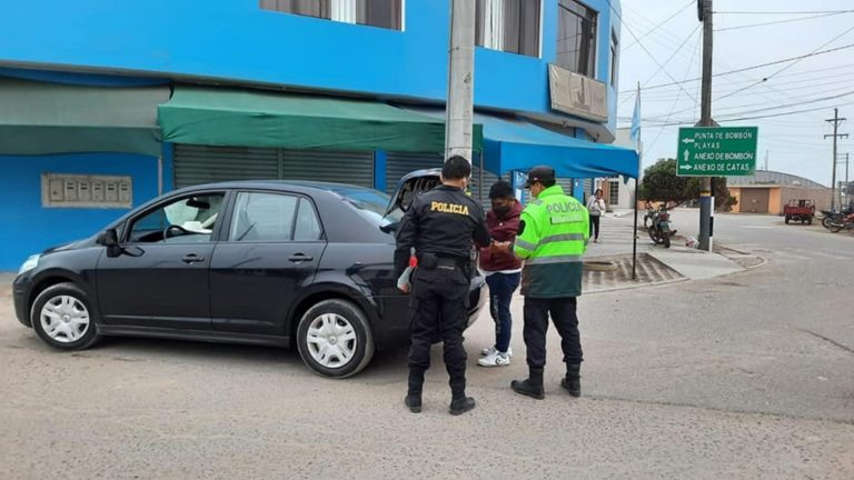 Serenazgo y PNP realizan operativos en día de inmovilización en Punta de Bombón