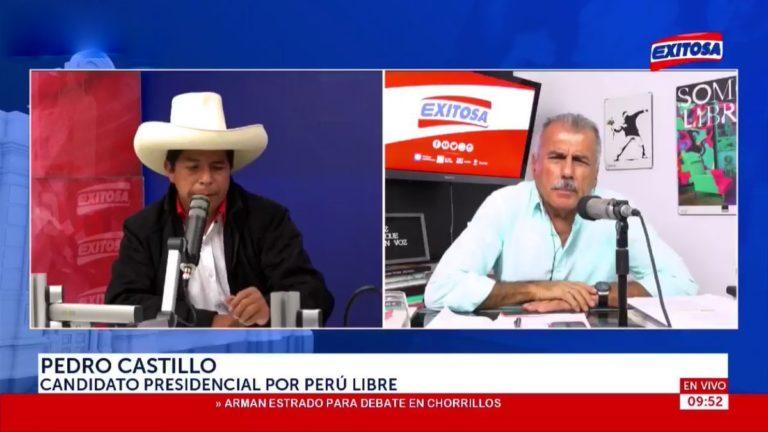 Pedro Castillo: martes o miércoles presentaremos equipo técnico