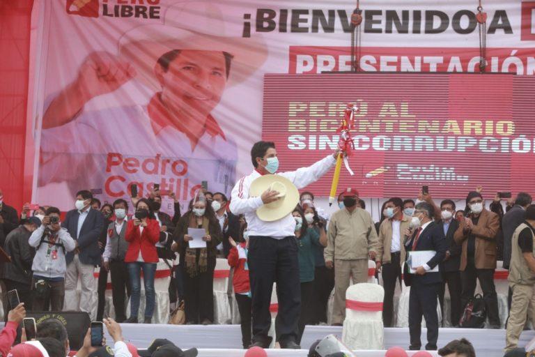Pedro Castillo presentó equipo técnico de Perú Libre