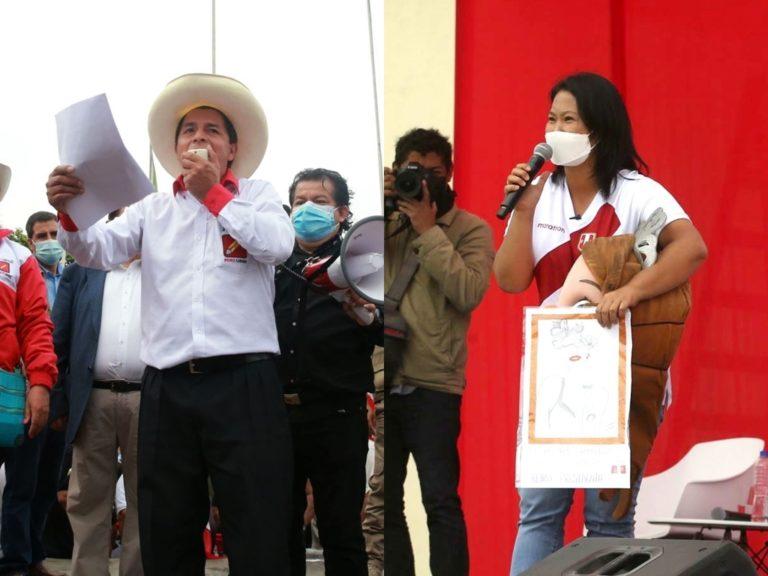 Ipsos: Pedro Castillo tiene 51,1% y Keiko Fujimori alcanza el 48,9%