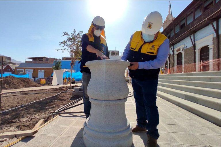 Moquegua: remodelación de la plaza mayor se encuentra en un 72% de avance físico