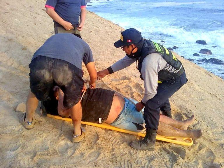 Serenazgo rescata a varón que cayó en un despeñadero en Lomas de Jesús