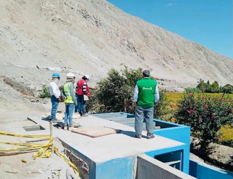 Cocachacra: Supervisan entrega de obra de saneamiento en Portal del Valle