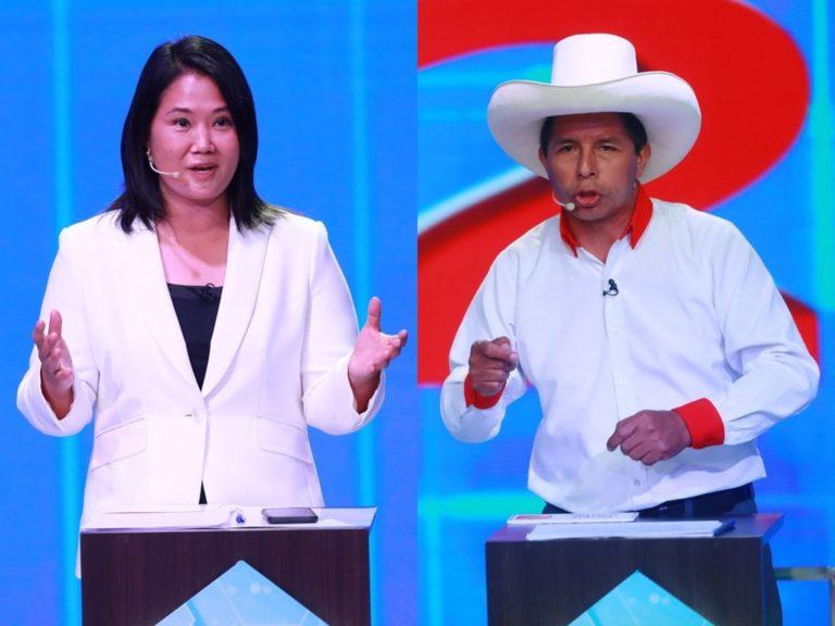 IEP: Pedro Castillo baja a 36,2% y Keiko Fujimori sube a 30%
