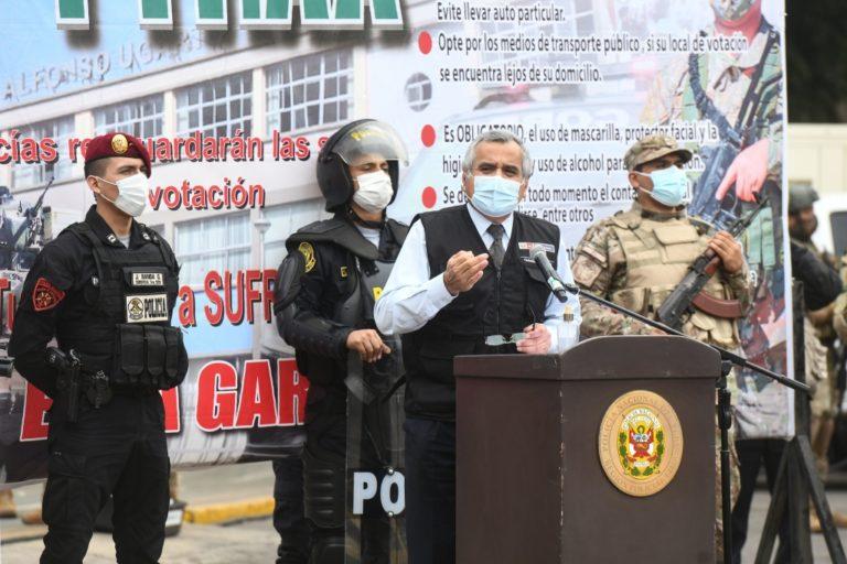 106 mil policías brindarán seguridad durante segunda vuelta a nivel nacional