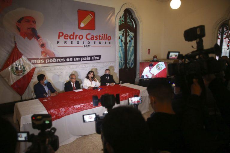 Perú Libre rechaza pretensión de someter resultados electorales a auditoría internacional