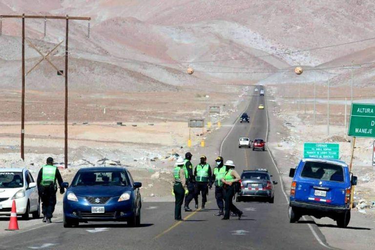 Extreman medidas para vehículos provenientes de Mollendo y Cocachacra