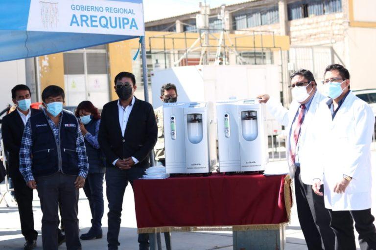 ¿Y para Islay?: GRA entrega concentradores de oxígeno