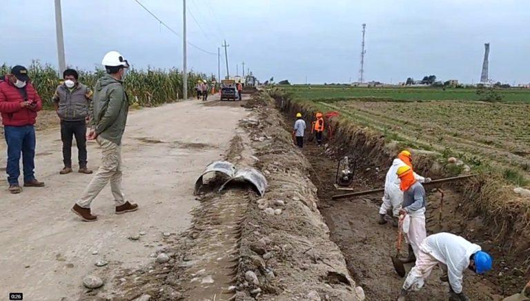 Verifican obra en sector Huarango, anexo Catas de Punta de Bombón