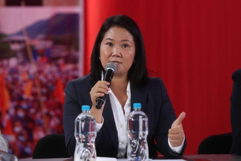Keiko Fujimori afirma que reconocerá resultados electorales