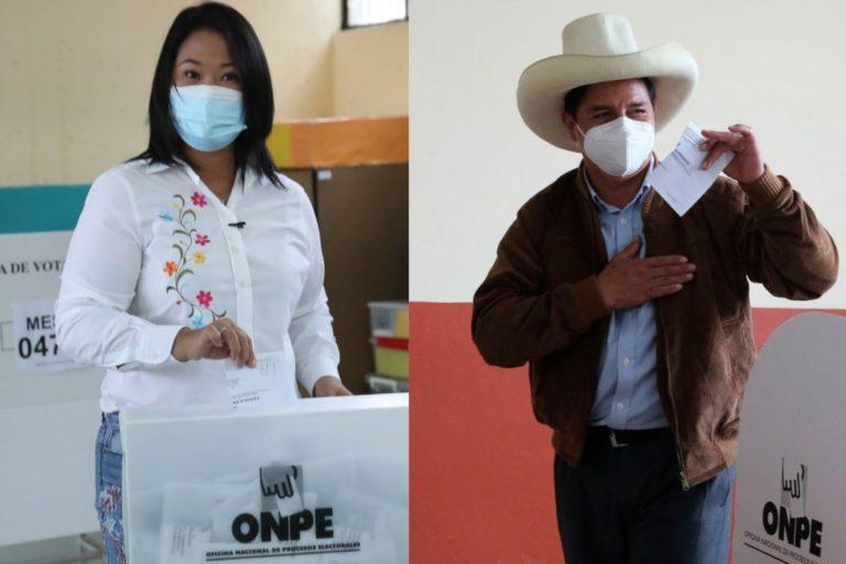 ONPE al 100% de actas contabilizadas: Castillo 50.125% y Fujimori 49.875%