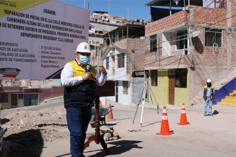 Inicio de nuevas obras garantizará más trabajo en Moquegua