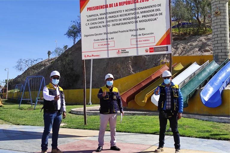 Municipalidad genera trabajo inmediato a través del mejoramiento del ornato de la ciudad