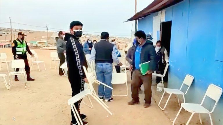 Mollendo: PNP interviene a grupo de personas que realizaban asamblea