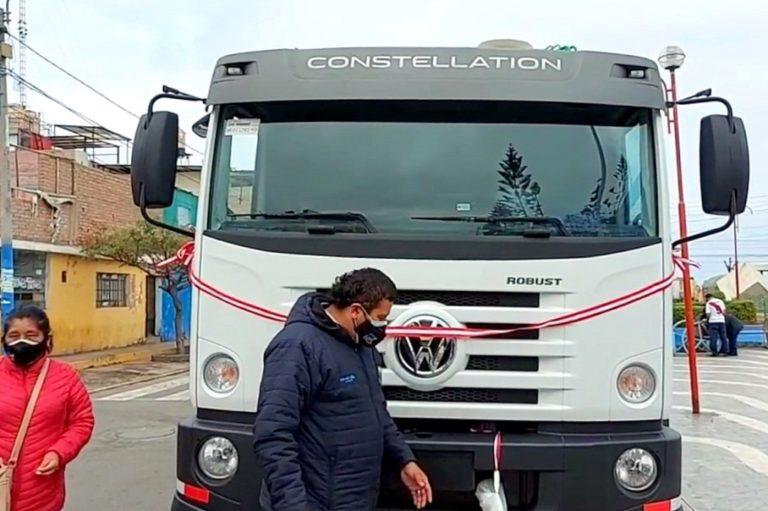 Islay-Matarani: entregan nuevo camión compactador