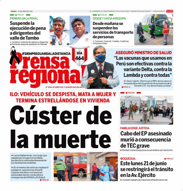 La Prensa Regional – Domingo 20 de Junio del 2021