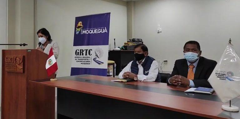 Gobernador regional de Moquegua presentó a nuevo gerente regional de Transportes y Comunicaciones
