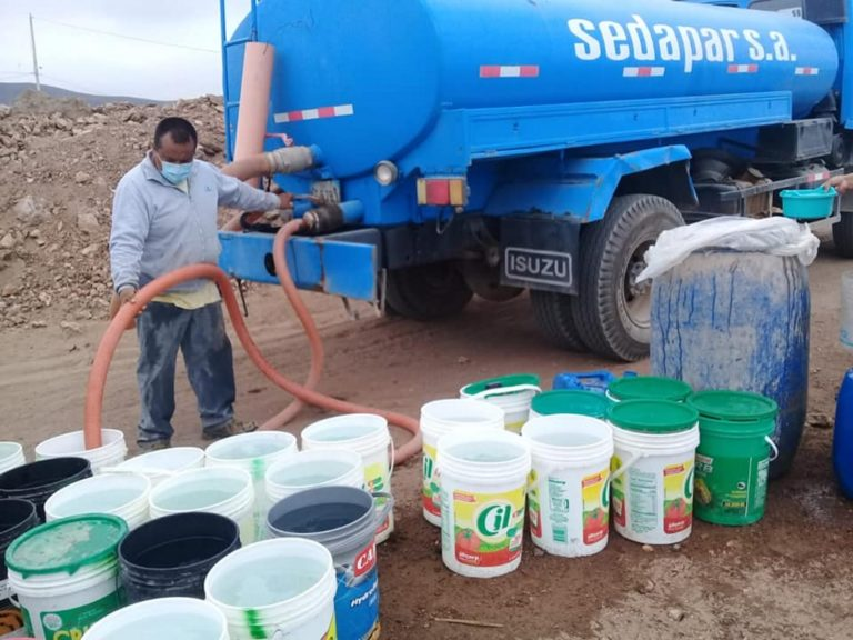 Sedapar y comuna provincial abastecen de agua potable