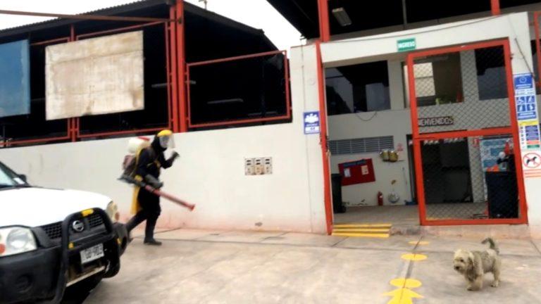 Mollendo: Realizan desinfección en mercado de Villa Lourdes