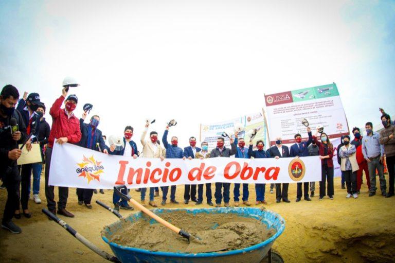 GRA y la UNSA inician la construcción del edificio de extensión universitaria en Camaná